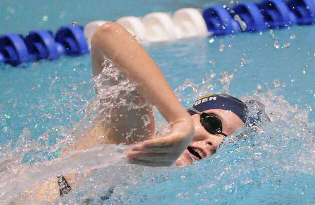 Karen Bottger Of Weston High School Competes In The 200 439954 Newstimes