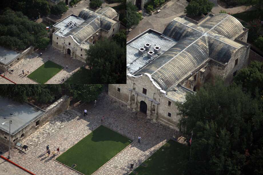 The roof of the Alamo, seen on Sept. 15.