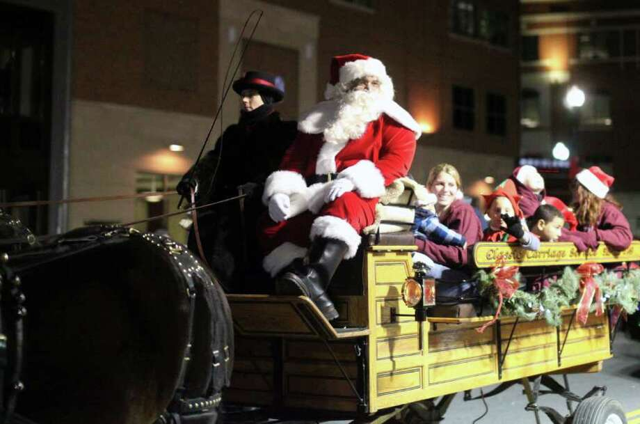 Santa Claus at the Gazette Holiday Parade in Schenectady, on Saturday.  (Patrick Dodson / Special to the Times Union) Photo: Patrick Dodson / 00010904A