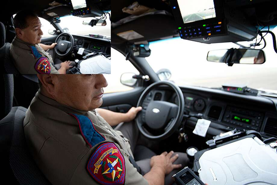 Trooper Johnny Hernandez patrols Hidalgo County in the Rio Grande Valley. This region of Texas accounts for 13% of high-speed pursuits in the state, largely in part of its close proximity to the Mexican border.