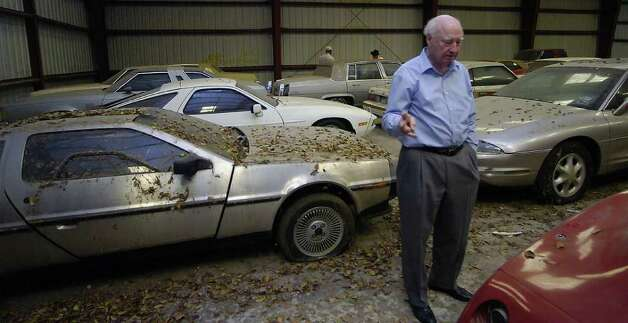 "Beaumont real estate investor, Jim Austin collects cars he likes. Among his stash is a 1981 DeLorean. The car was made famous by ""Back to the Future,"" in 1985 because of its alien craft design.   Dave Ryan/The Enterprise Photo: Dave Ryan / Beaumont"