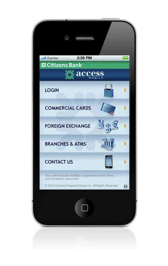Citizens Financial Group recently launched accessMobile, an application allowing its Citizens Bank and Charter One commercial customers to manage funds from an iPhone, iPad or iTouch mobile device. Photo: Contributed Photo / Stamford Advocate Contributed
