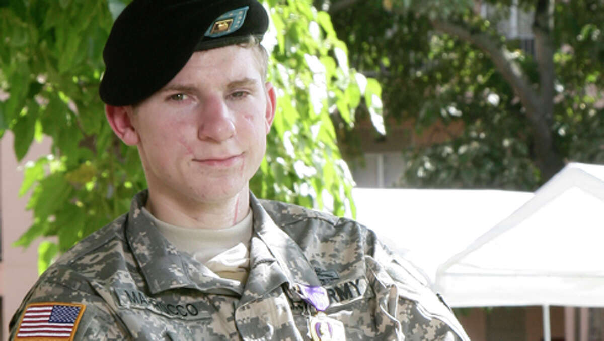 Army Specialist Brendan Marrocco, who suffered serious injuries including the loss of all four limbs while serving in Iraq, will be the beneficiary of the Fairfield Ludlowe High School Sticks for Soldiers charity lacrosse tournament, which will be played on Nov. 27, 2010.