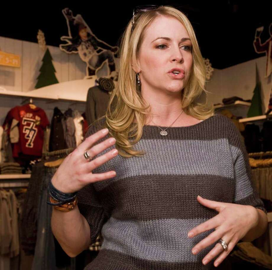 """Connecticut actress Melissa Joan Hart (""""Sabrina the Teenage Witch"""") at the 77kids store in the Danbury Fair mall. Thursday, Nov. 18, 2010 Photo: Scott Mullin / The News-Times Freelance"""