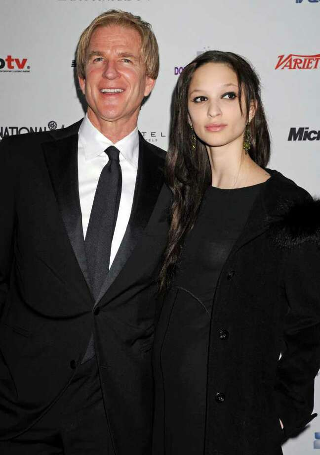 Actor Matthew Modine and his daughter Ruby arrive at the 38th International Emmy Awards, Monday, Nov. 22, 2010, in New York. (AP Photo/ Louis Lanzano) Photo: Louis Lanzano