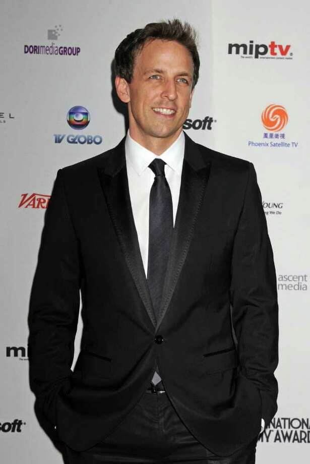 Saturday Night Live cast member Seth Meyers arrives at the 38th International Emmy Awards, Monday, Nov. 22, 2010, in New York. (AP Photo/Louis Lanzano) Photo: Louis Lanzano