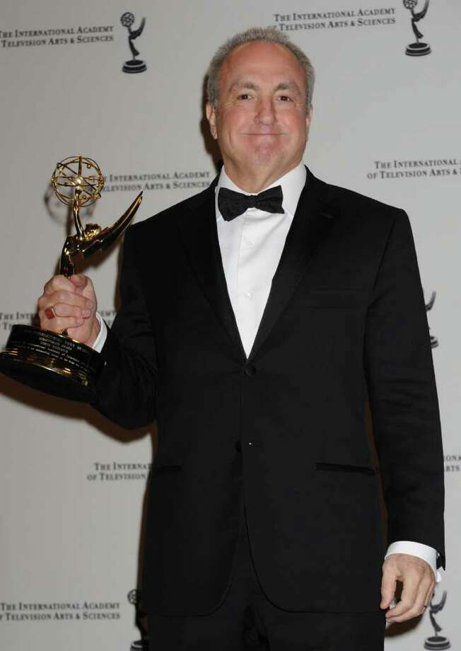 Lorn Michaels poses with his Best Directorate award at the 38th  International Emmy Awards, Monday, Nov. 22, 2010, in New York.  (AP Photo/Louis Lanzano) Photo: Louis Lanzano