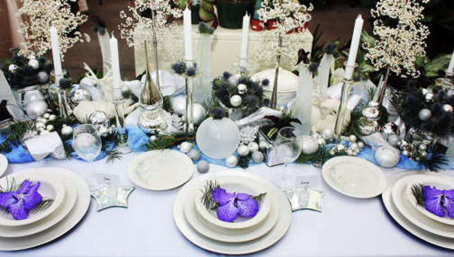 Nielsen's decorated table. Photo: Contributed Photo / Darien News