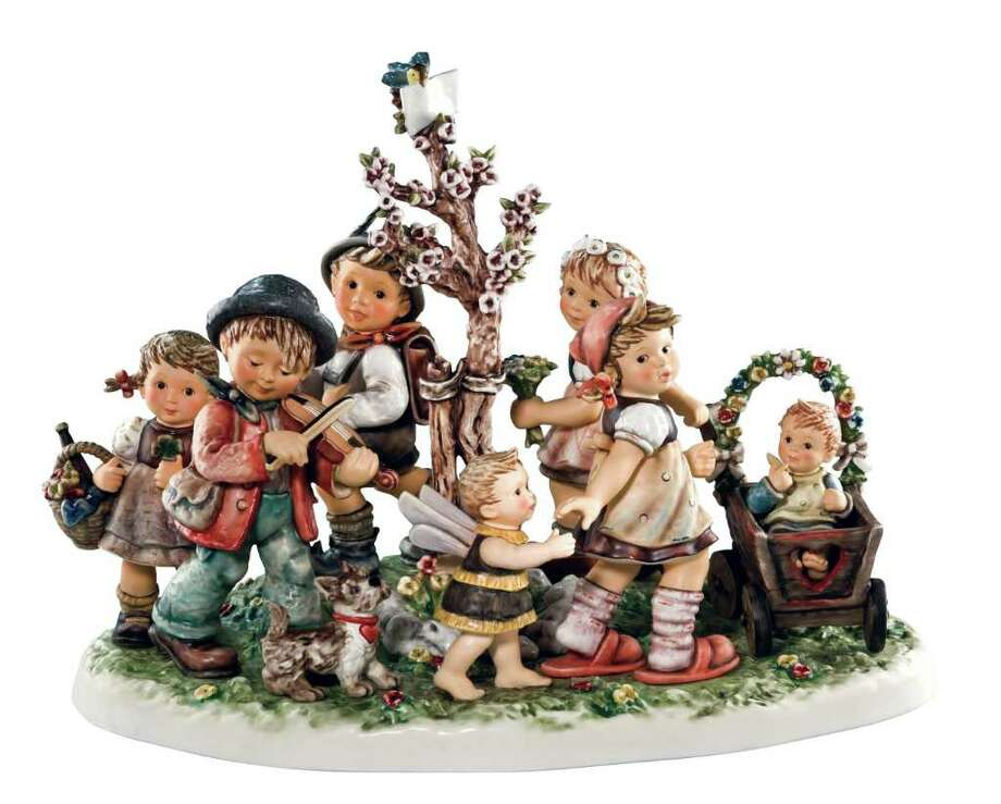 Hummel Figurines, popular in the 1960s and '70s, are now sold for around $50 or less. (PRNewsFoto/M.I. Hummel Club) / Beaumont
