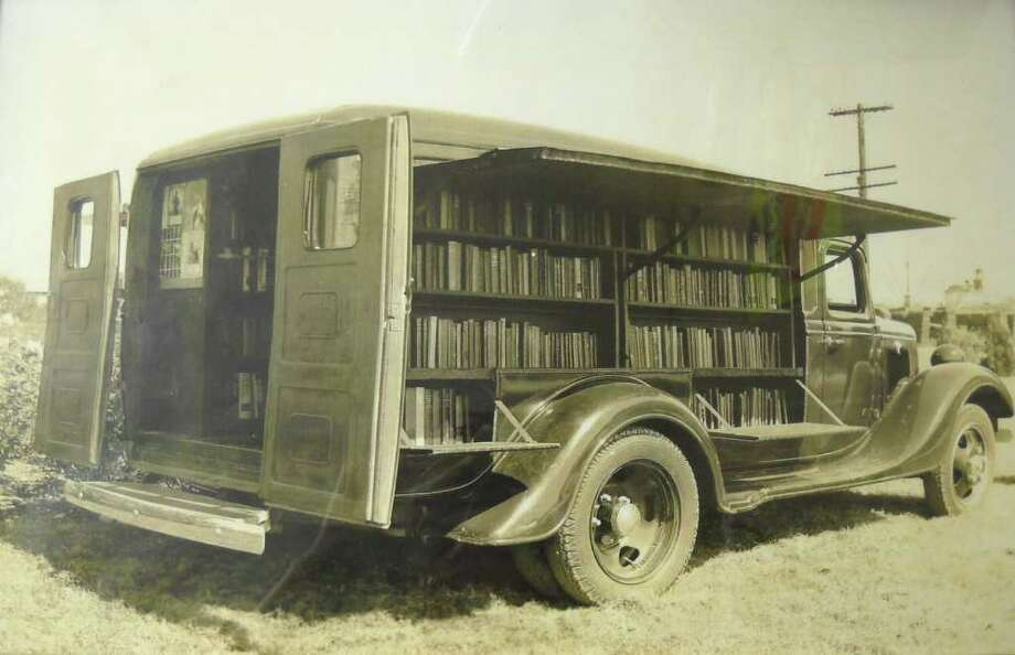 Jefferson County bought its first bookmobile, then called a book wagon, in 1935. The one shown was in operation until 1948. Heather Nolan/The Enterprise