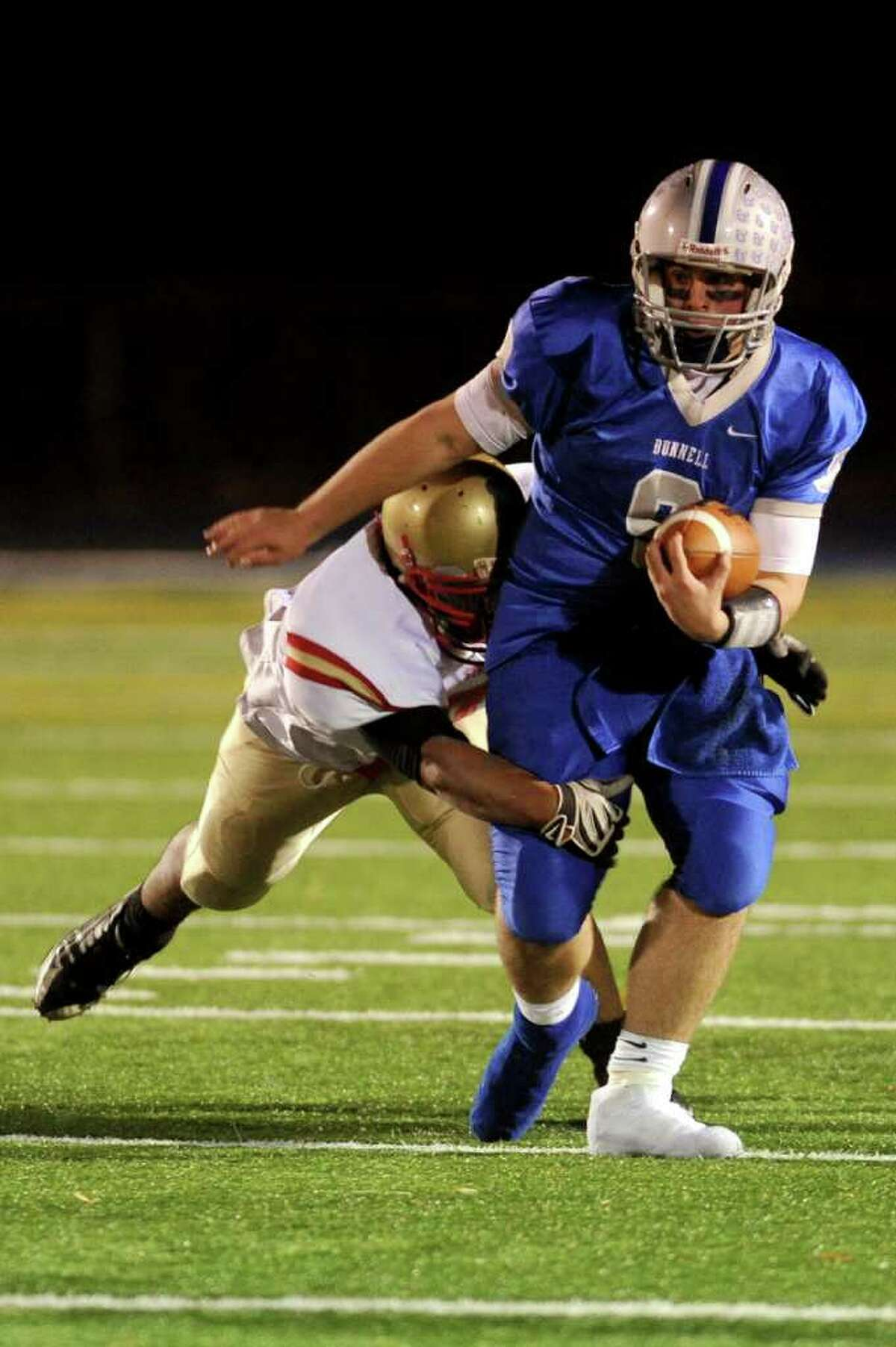 Bunnell's Bryan Castelot carries the ball during Wednesday's game at Bunnell High School on November 24, 2010.