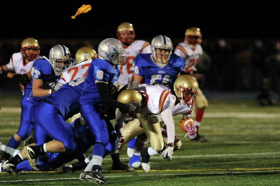 Stratford's Markey Desruisseaux carries the ball during Wednesday's game at Bunnell High School on November 24, 2010. Photo: Lindsay Niegelberg / Connecticut Post