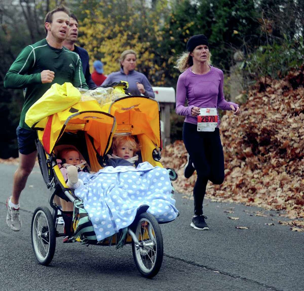Runners participate in the 33rd Pequot Running Club Thanksgiving Day five-mile race in Southport on November 25, 2010.