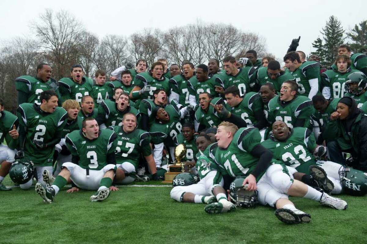 Norwalk High takes the Sam Testa Trophy Thanksgiving Day, November 25, 2010. The Bears beat McMahon in a crosstown bout 8-7.