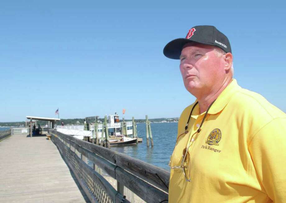 Donald Brown, one two Island Beach park rangers, used at Island Beach over the summer. Park rangers are expected to be deployed at Island Beach, Greenwich Point and Byram Park from Memorial Day to Labor Day under a preliminary proposal that would also cap the number of day passes nonresidents could buy for the ferries. Photo: File Photo / Greenwich Time File Photo