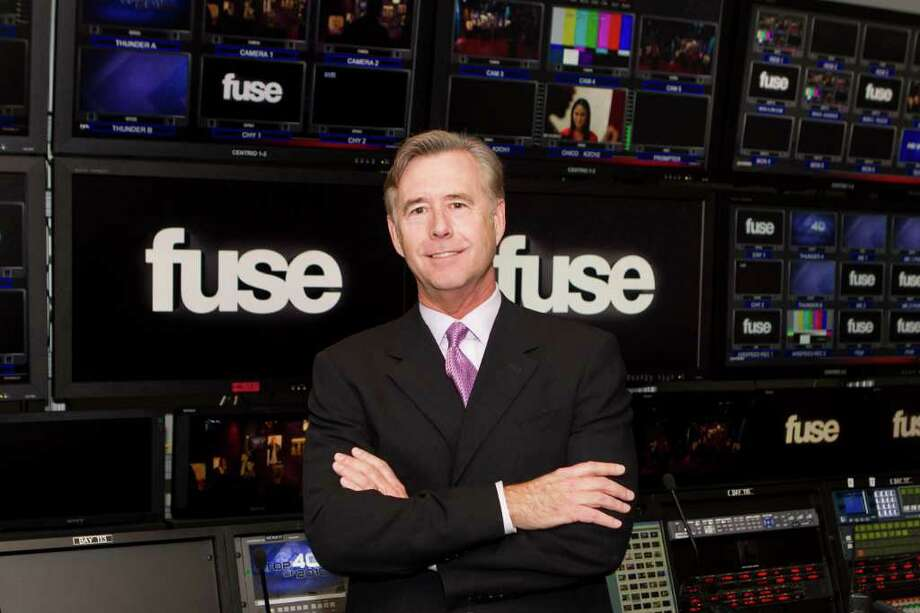 Mike Bair, president of MSG Media, in the Fuse network control room. Bair is a native of Rowayton and now lives in Darien. Photo: Rebecca Taylor, MSG Photos  / ©Madison Square Garden, L.P.