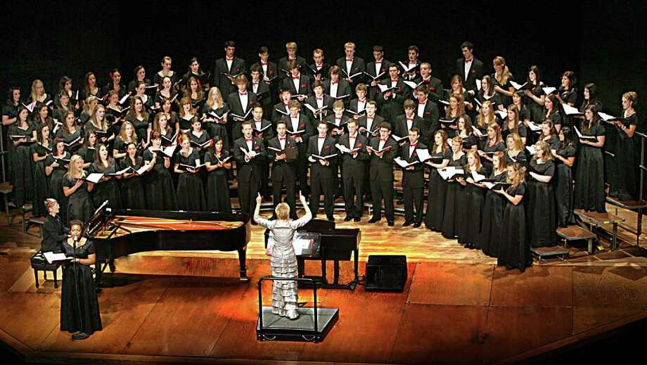 """The Fairfield University Glee Club, under the direction of Carole Ann Maxwell, will present concerts of """"Holiday Music Treasures,"""" Dec.3-4 in Fairfield. The group will be joined by the Fairfield University Chamber Singers and the the Festival Brass and Percussion. Photo: BK Angeletti, CONTRIBUTED PHOTO / bkangeletti"""