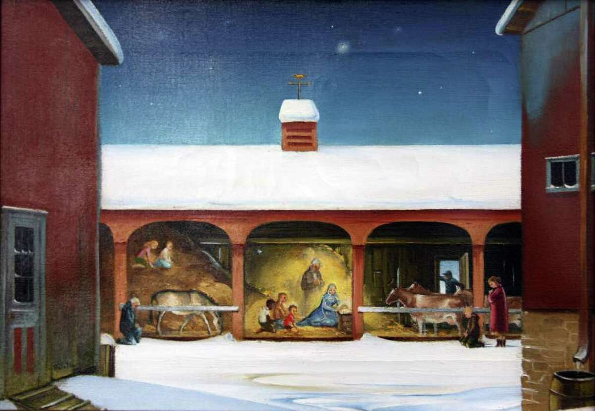 Nativity scenes, set in New England, painted by the late Ruth Ray will be featured in a holiday show opening Dec. 3 at Southport Galleries in Fairfield.