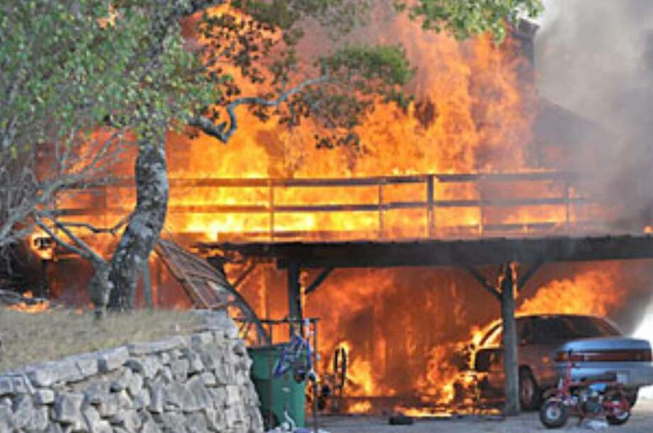 Firefighters were unable to save a Bulverde home on Aug. 19 when a fire spread from the garage to the main house, located at 31117 Wildcat Dr.