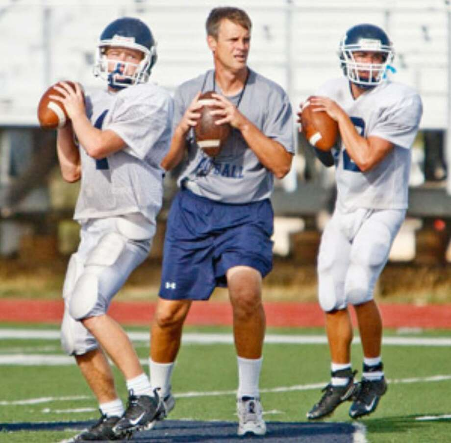 Smithson Valley coach Larry Hill will be breaking in plenty of newcomers, including QBs Matt Shelton (left) and Parker McKenzie.