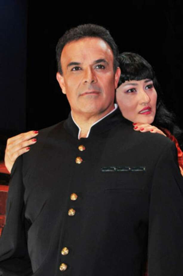 "Fernando De La Mora (left) and Jee Hyun Lim star in the San Antonio Opera's ""Madama Butterfly."""