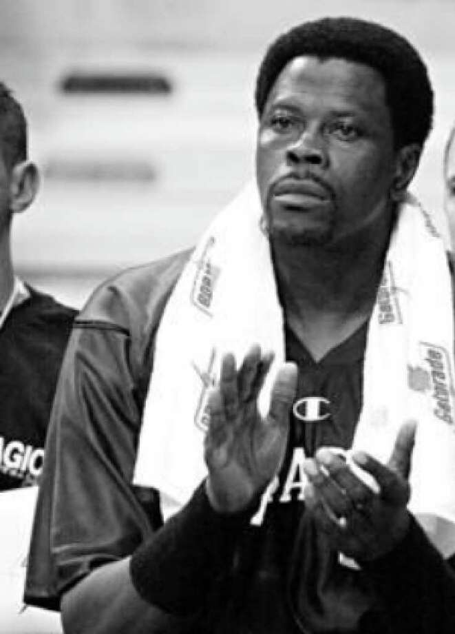 Orlando center Patrick Ewing watches from the bench during a game in 2001. Ewing averaged six points and four rebounds in 65 games for the Magic in his final season playing in the NBA.