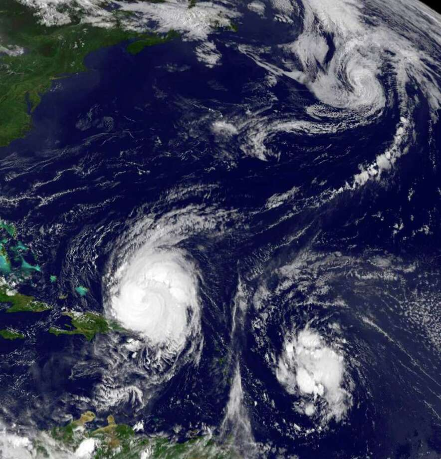 Hurricane Earl, growing Tropical Storm Fiona and fading Danielle were all in the Atlantic Ocean on Aug. 31. NASA/The Associated Press Photo: HO / NASA
