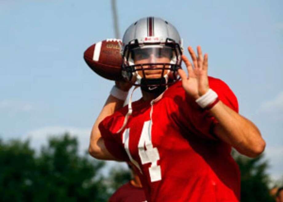 Jeremy Staska, a senior from La Porte, will open the season Saturday as Trinity's No. 1 quarterback against McMurry.