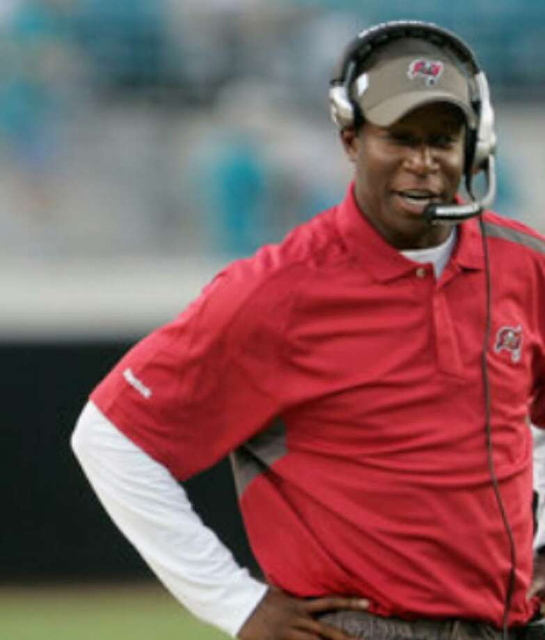 First-time head coach Raheem Morris, 32, is one of several new faces with Tampa Bay.