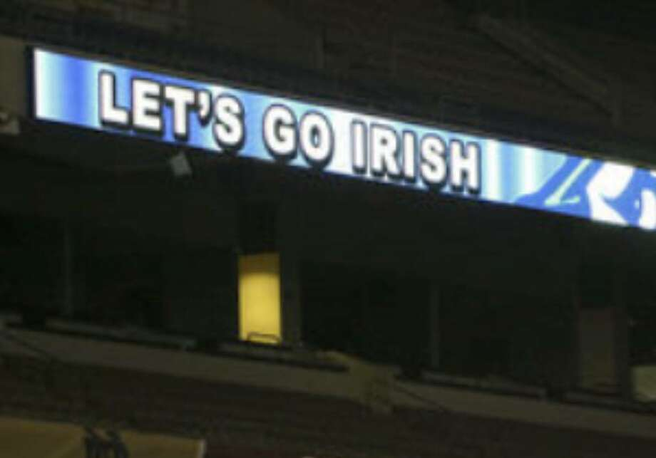 New video ribbon boards have been installed in the Alamodome in preparation for Saturday's 6:30 p.m. kickoff between Notre Dame and Washington State.