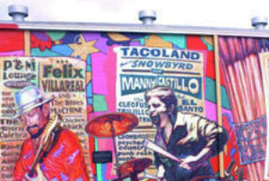 """La Musica de San Anto"" is San Anto Cultural Arts' epic mural honoring local music legends."