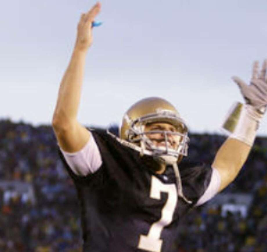 Notre Dame quarterback Jimmy Clausen has thrown 16 touchdowns and only two interceptions this season.