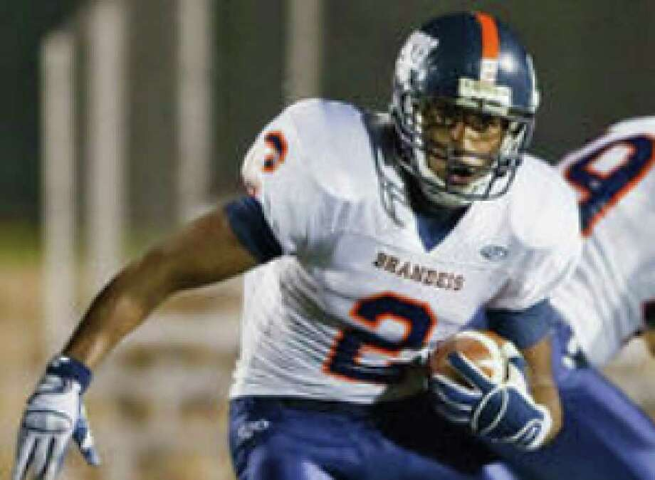 Brandeis running back Noah Copeland has run for 2,087 yards this season, including playoffs, for an average of 7.9 yards per attempt.
