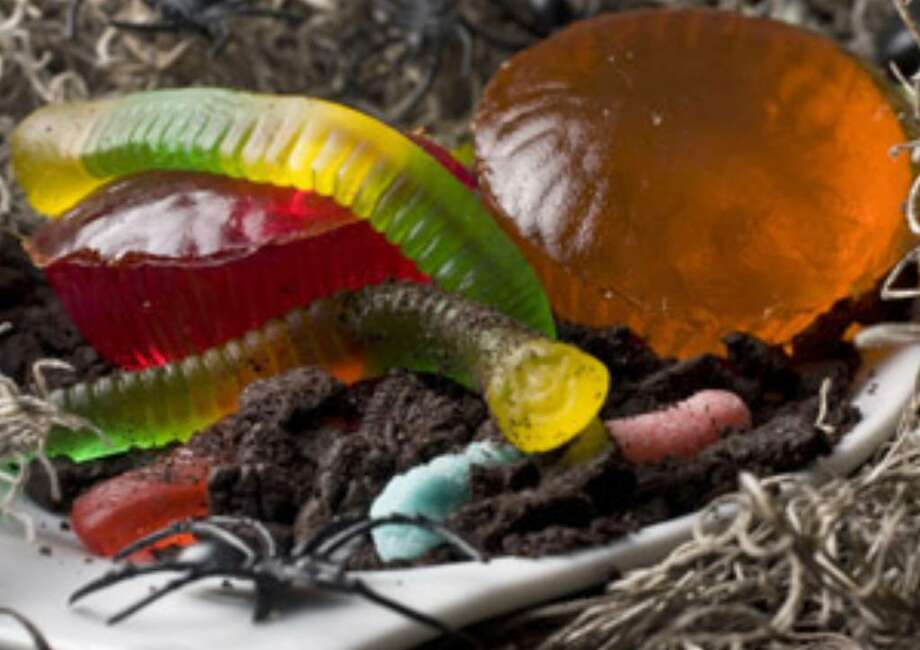 Bright, colorful and jiggly Get Slimed cupcakes will have all kinds of appeal with the kids on Halloween.