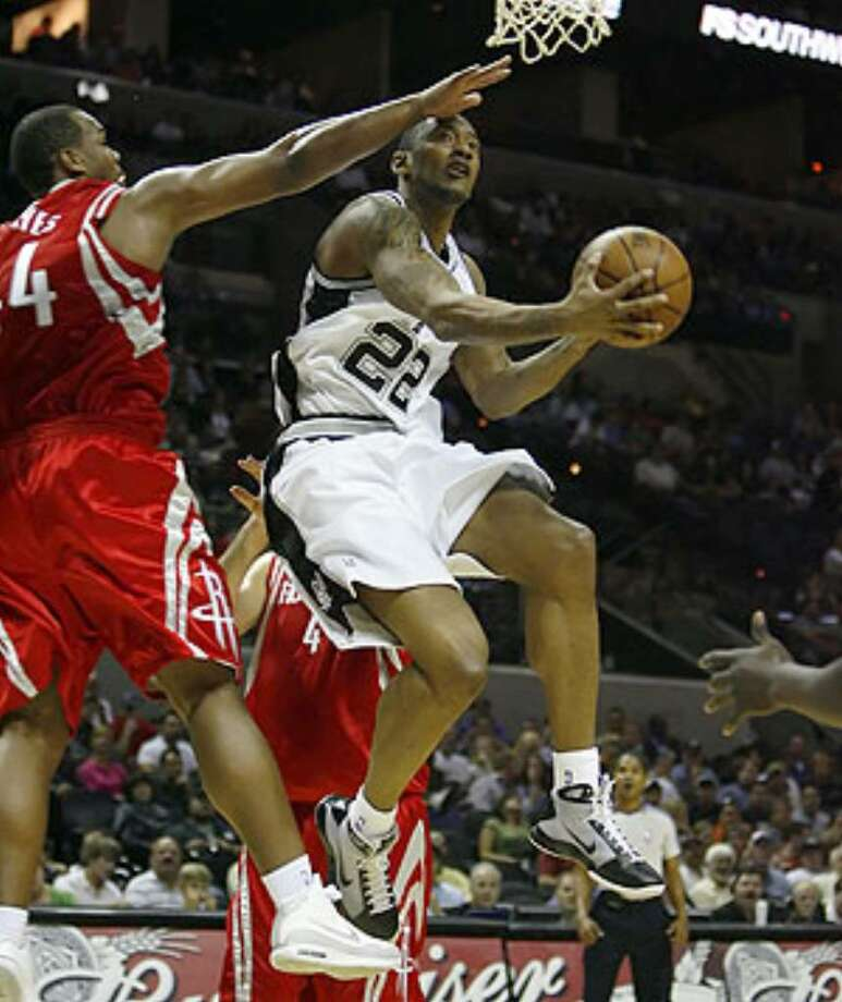 Marcus Haislip, a 6-foot-10 power forward, signed with the Spurs in July and has a guaranteed contract.