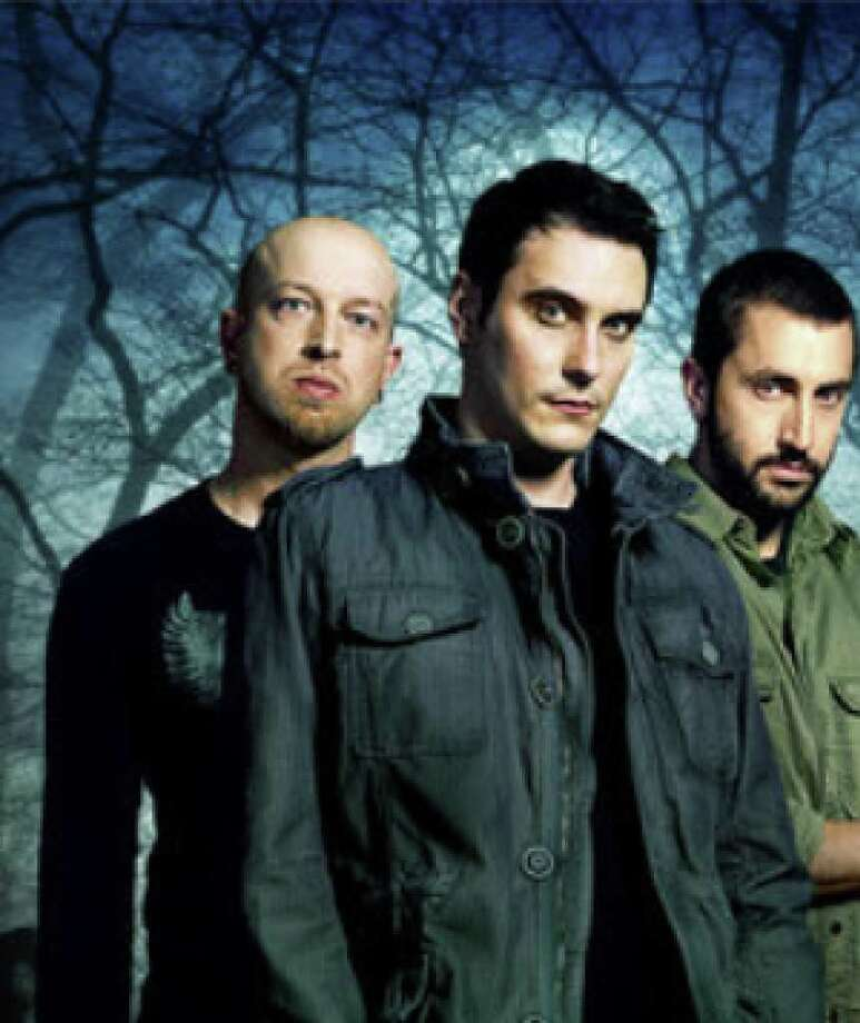 Breaking Benjamin's Ben Burnley (second from left) says Sunday's audience can expect to see an energetic show.
