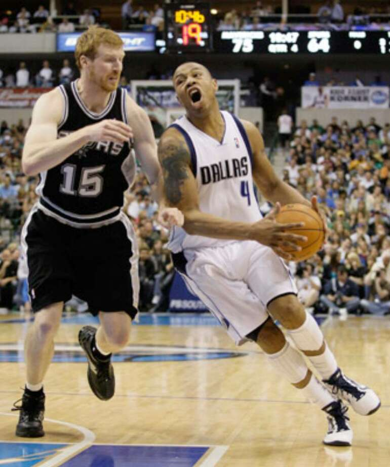 Dallas' Caron Butler (right) is one of two free-agent small forwards expected to hear recuiting pitches today from the Spurs.