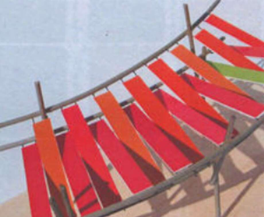 This is an artist's rendering of a shade feature at Main Plaza. A reader says the awnings look circus-like.