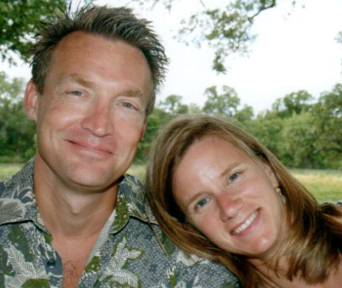 Gregory and Alexandra Bruehler were killed when a pickup hit them while they were riding their tandem bicycle on Texas 16.
