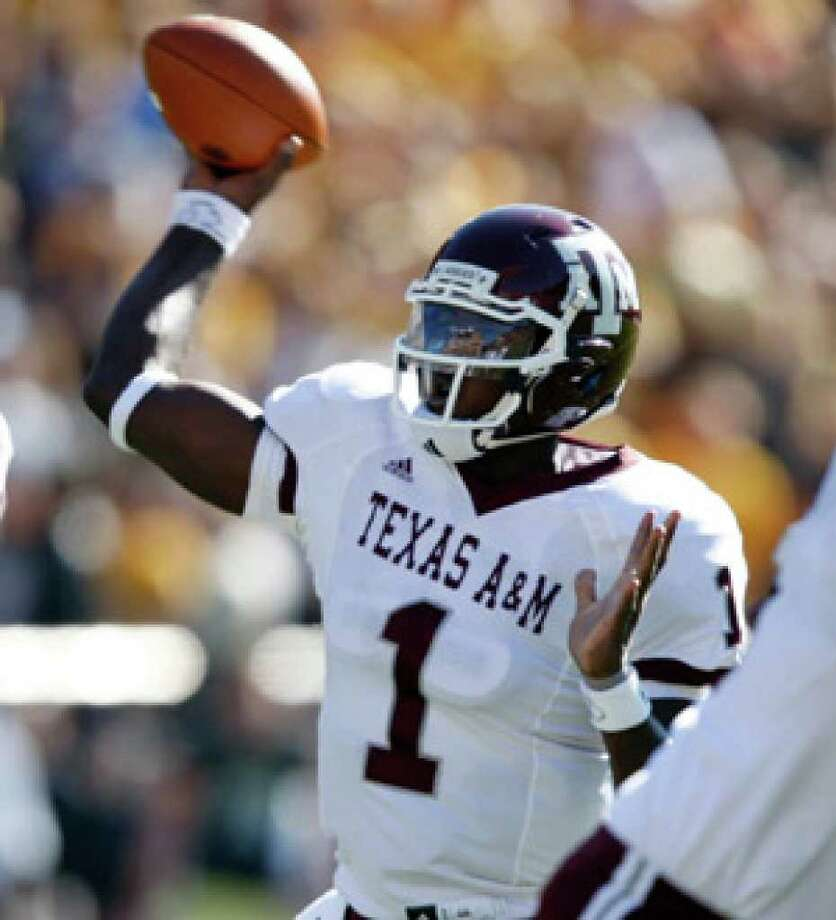A&M quarterback Jerrod Johnson leads the Big 12 in total offense (320 yards per game) and passing TDs (21).
