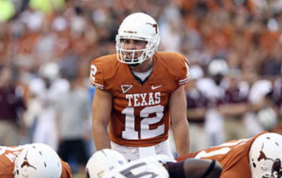 Texas quarterback Colt McCoy passed for two touchdowns in the Longhorns' season opener.