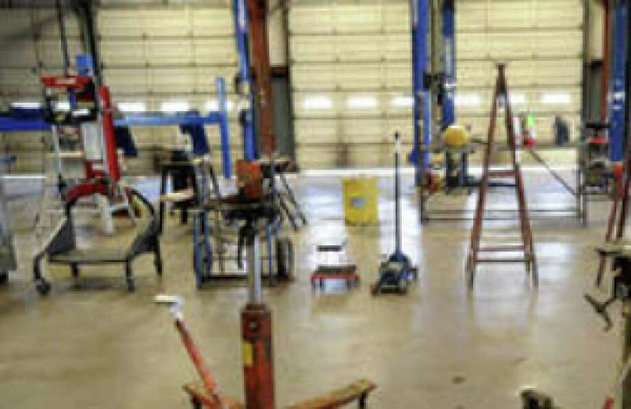 Auto repair and maintenance equipment once used at Fiesta Auto Center will go up for auction today.