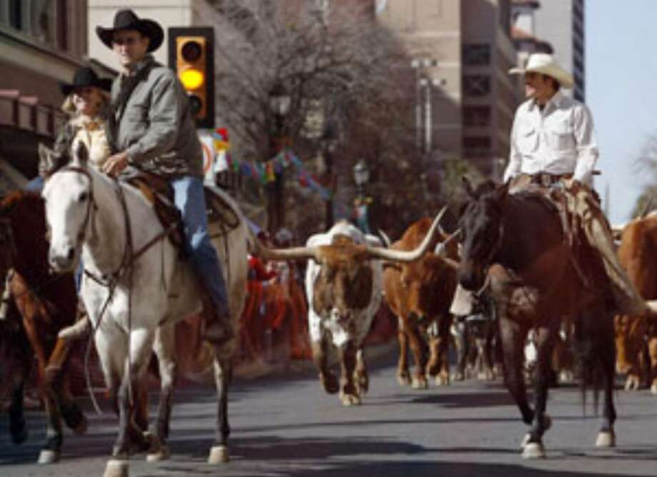 The Houston Street Fair & Market hosted a cattle drive in January to help kick off the San Antonio Stock Show & Rodeo. The monthly fair was a pet project of former Mayor Phil Hardberger.