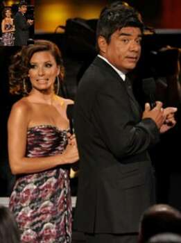 Actress Eva Longoria Parker and comedian George Lopez co-host the ALMA Awards on Thursday, Sept. 17, in Los Angeles.