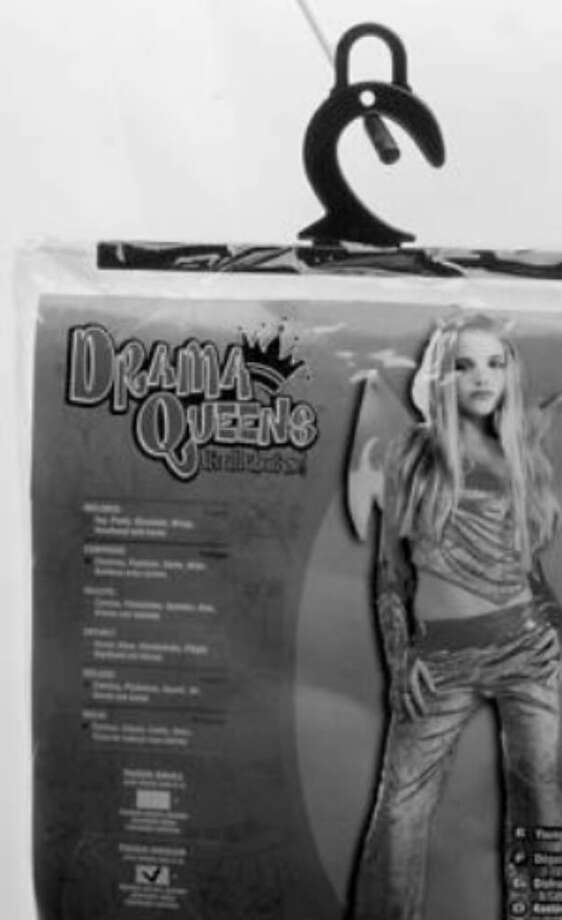"""Responding to columnist Maria Anglin, a reader agrees that sexy Halloween costumes for young girls, such as this Drama Queens outfit called """"Devilicious,"""" are inappropriate. But, the reader says, parents' busy lives aren't to blame. Instead, it's their bad judgment."""