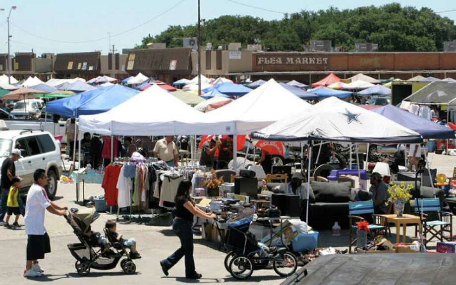 The weekend flea market at Northwest Plaza Shopping Center on Fredericksburg Road may soon be a thing of the past. Bexar County wants to tear down the building and replace it with a 16-foot-deep, 20-acre pit to prevent flooding on Fredericksburg and Babcock roads and Kampmann Boulevard.