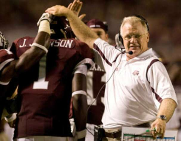 "Mike Sherman, who has Texas A&M off to a 3-0 start against sub-par competition, realizes ""the speed of the game is going to be greatly enhanced when we line up against Arkansas."""