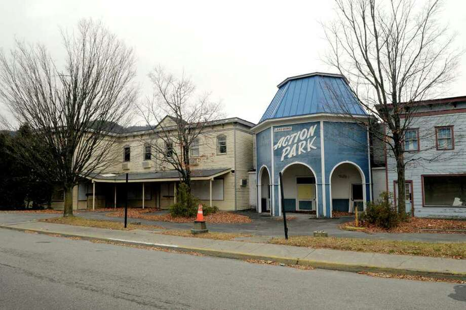 A view of the former Gaslight Village amusement park in Lake George, NY on Tuesday, Nov. 30, 2010.   The process of knocking down the buildings will be starting soon.   (Paul Buckowski / Times Union) Photo: Paul Buckowski / 00011254A
