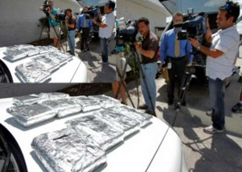 July 12, 2010: San Antonio Police Department and law enforcement officers from the High Intensity Drug Trafficking Area program arrested a couple who were in possession of 10 kilos of cocaine near Intersate 35 and Weidner Road.