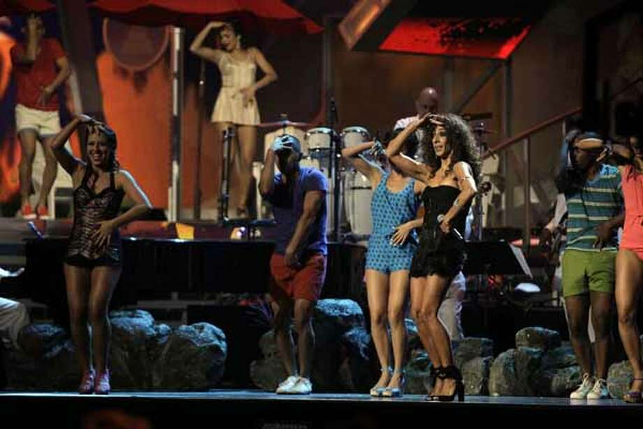 "Rosario performs ""Cuentame Que Te Paso"" at the 11th Annual Latin Grammy Awards on Thursday, Nov. 11, 2010, in Las Vegas."